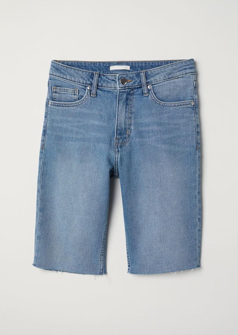H&M H & M - Knee-length Denim Shorts - Blue