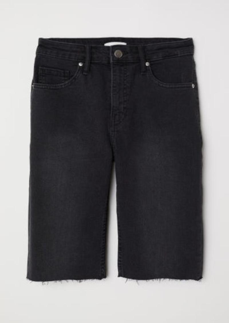 H&M H & M - Knee-length Denim Shorts - Gray