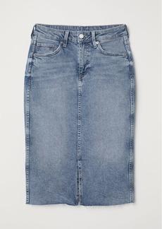 H&M H & M - Knee-length Denim Skirt - Blue