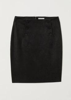 H&M H & M - Knee-length Skirt - Black