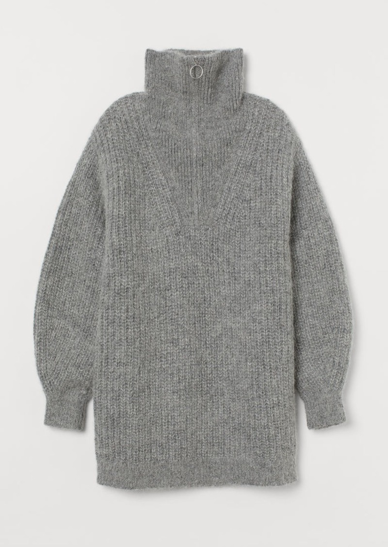 H&M H & M - Knit Alpaca-blend Sweater - Gray