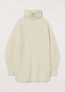 H&M H & M - Knit Alpaca-blend Sweater - White