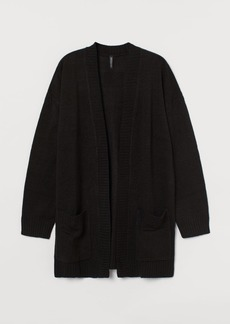 H&M H & M - Knit Cardigan - Black