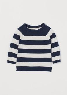H&M H & M - Knit Cotton Sweater - Blue