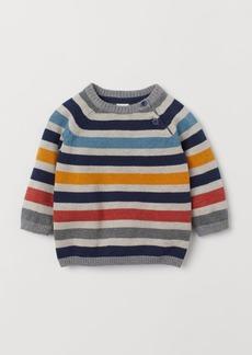 H&M H & M - Knit Cotton Sweater - Yellow