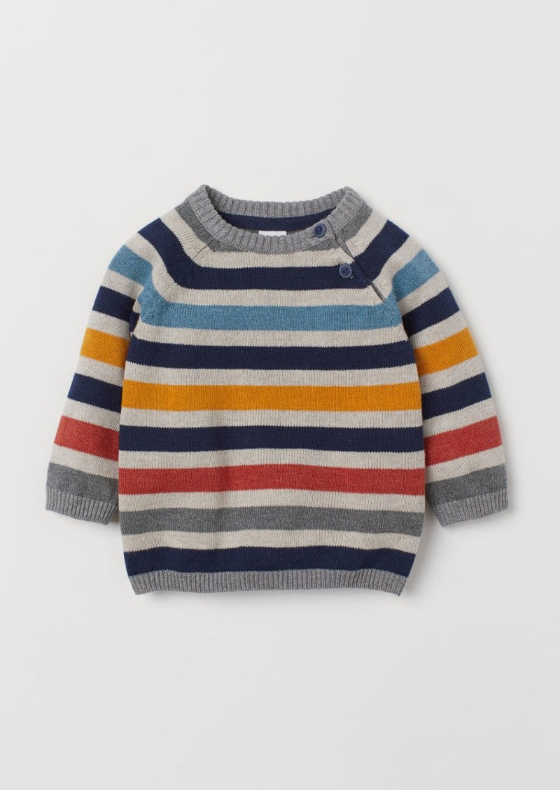 H&M H & M - Knit Cotton Sweater - Yellow