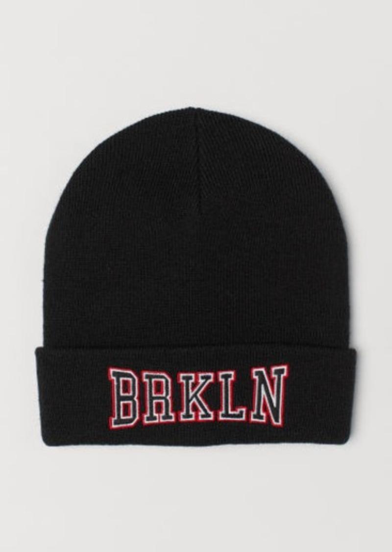 H&M H & M - Knit Hat - Black