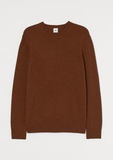 H&M H & M - Knit Lambswool Sweater - Beige