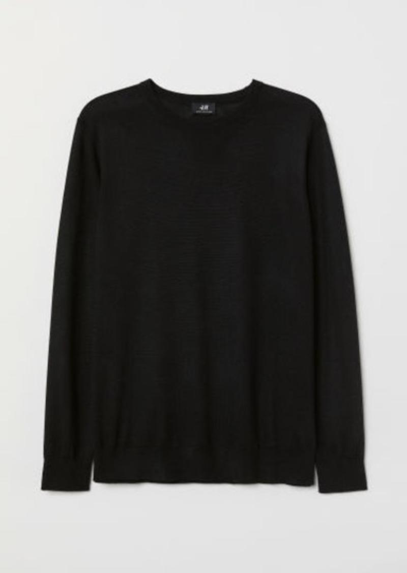 H&M H & M - Knit Wool-blend Sweater - Black
