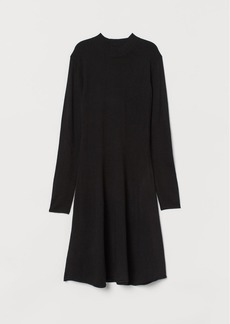 H&M H & M - Knit Mock-turtleneck Dress - Black