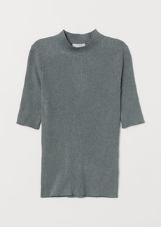 H&M H & M - Knit Mock Turtleneck Sweater - Green