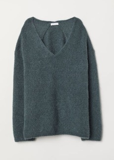 H&M H & M - Knit Mohair-blend Sweater - Green