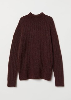 H&M H & M - Knit Mohair-blend Sweater - Red
