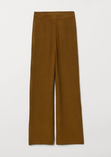H&M H & M - Knit Pants - Yellow