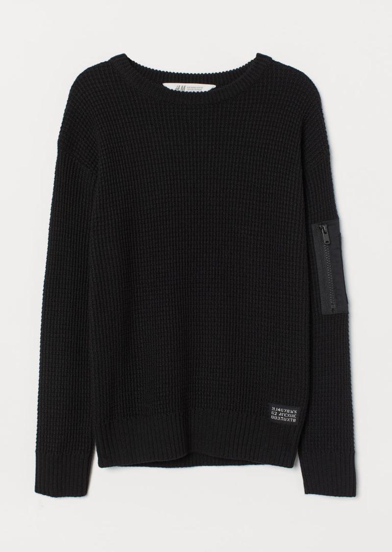 H&M H & M - Knit Sweater - Black