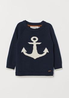 H&M H & M - Knit Sweater - Blue