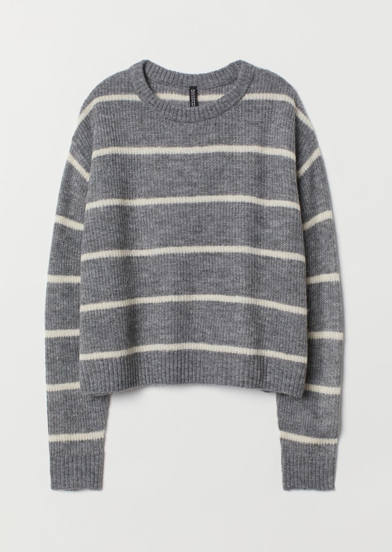 H&M H & M - Rib-knit Sweater - Gray