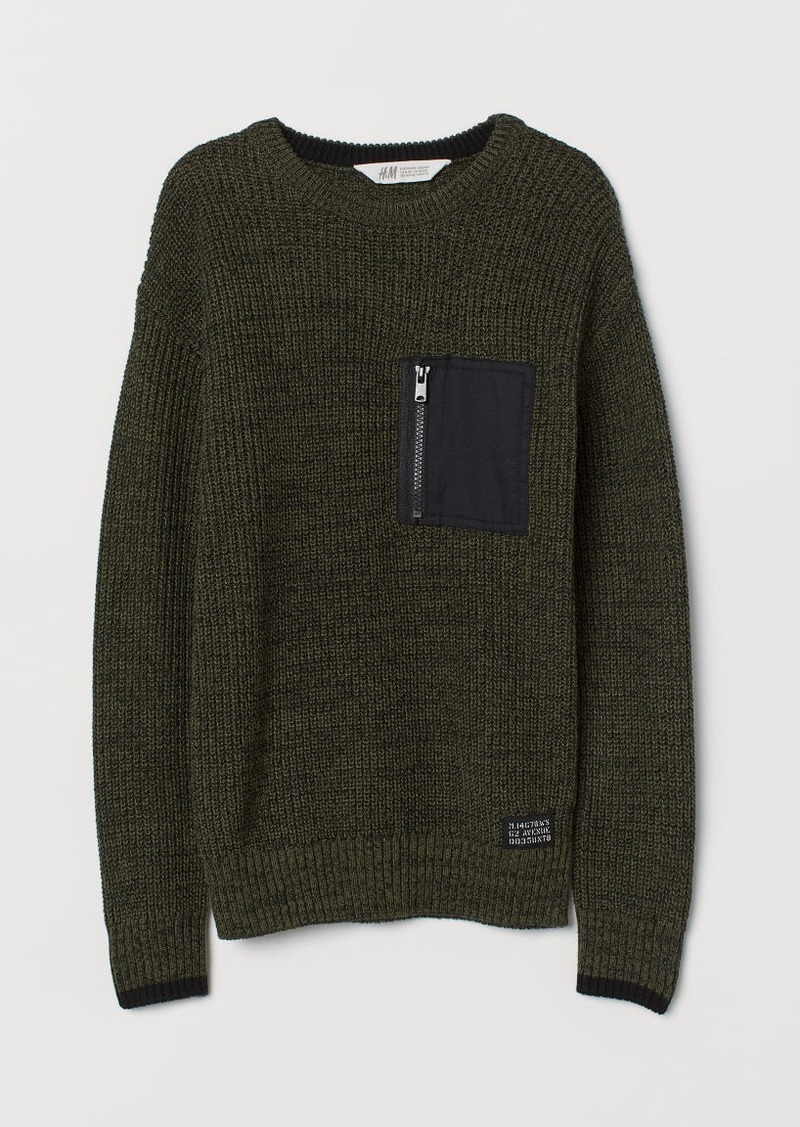 H&M H & M - Knit Sweater - Green