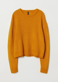 H&M H & M - Rib-knit Sweater - Yellow