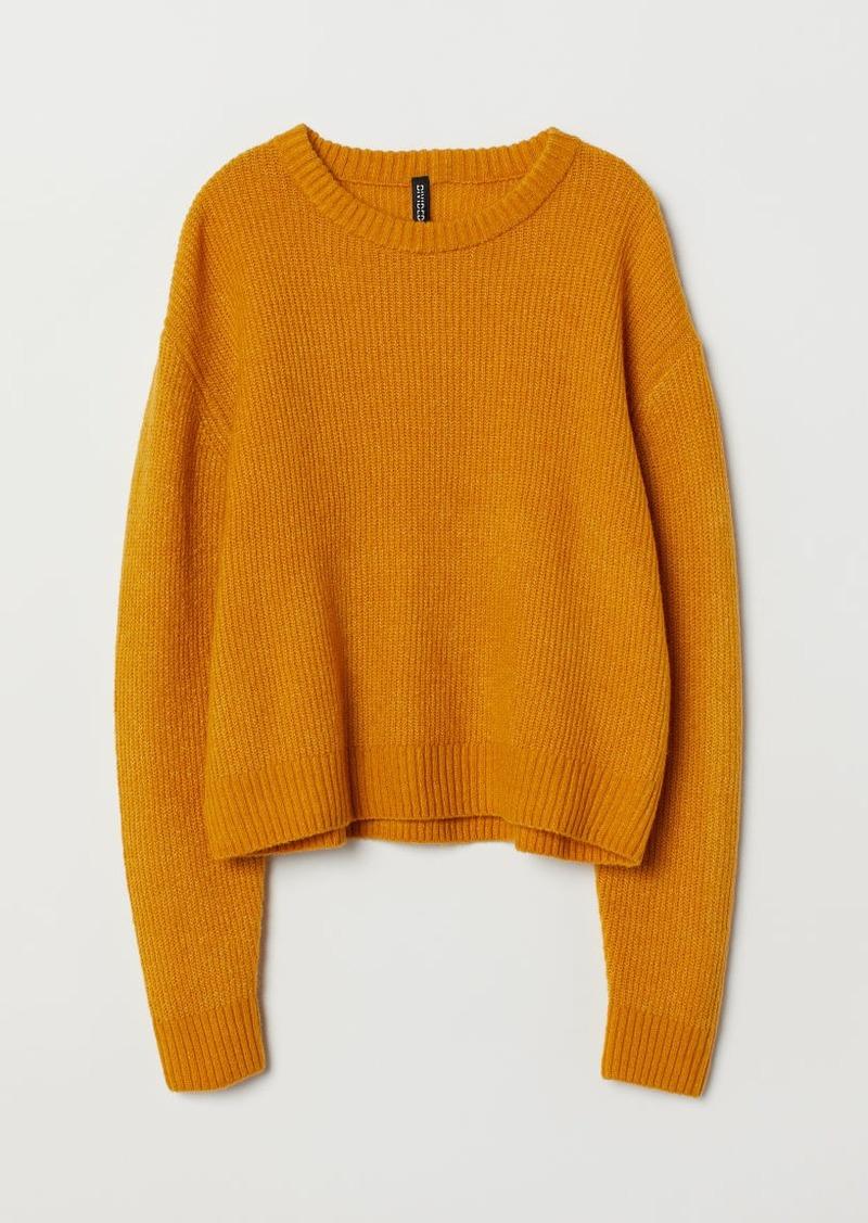 H&M H & M - Rib-knit Sweater - Yellow
