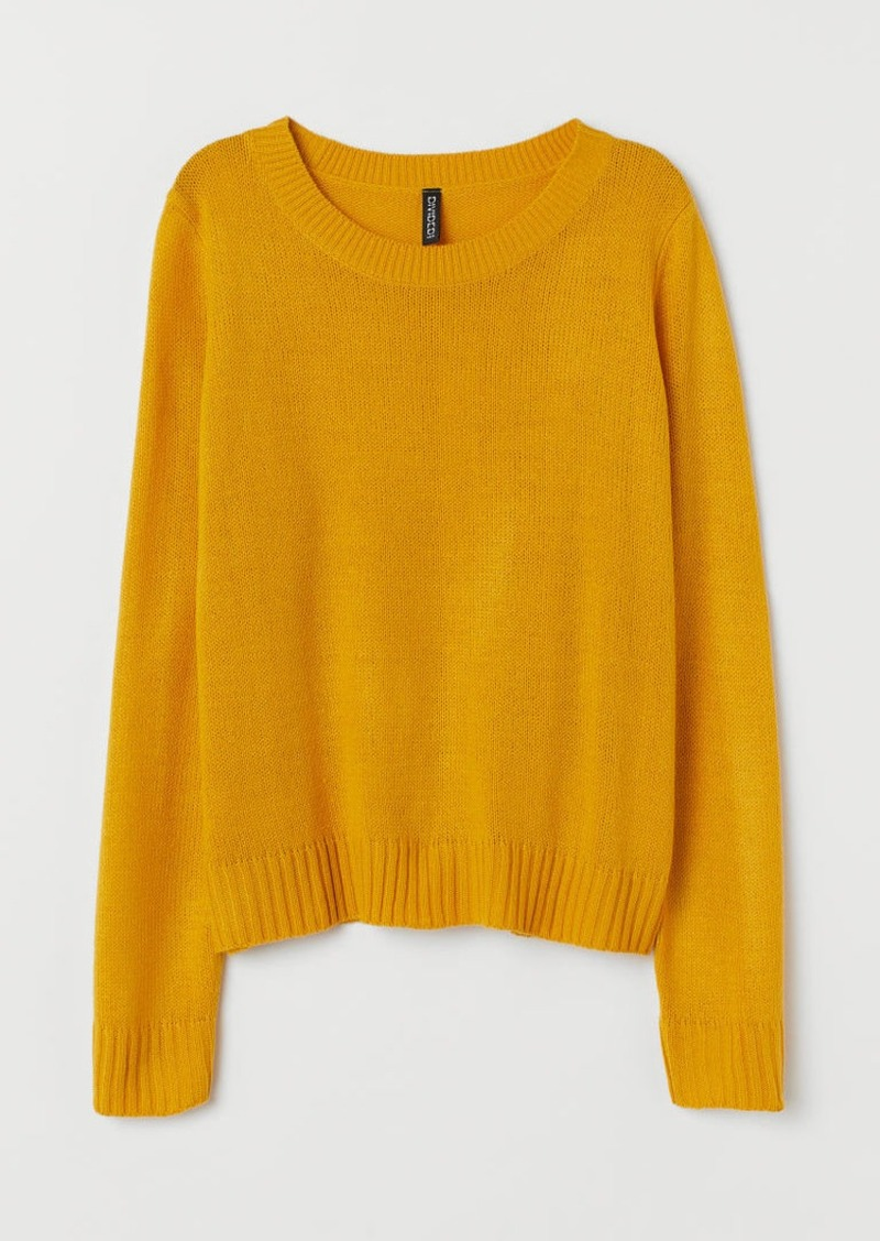 H&M H & M - Knit Sweater - Yellow