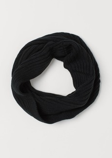 H&M H & M - Knit Tube Scarf - Black