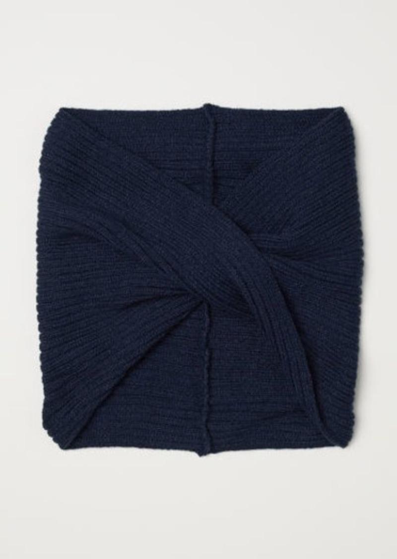 H&M H & M - Knit Tube Scarf - Blue