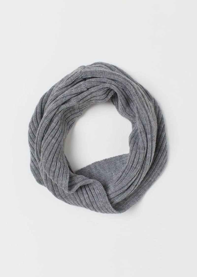 H&M H & M - Knit Tube Scarf - Gray