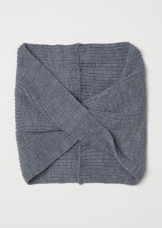 H&M H & M - Knit Tube Scarf - Gray