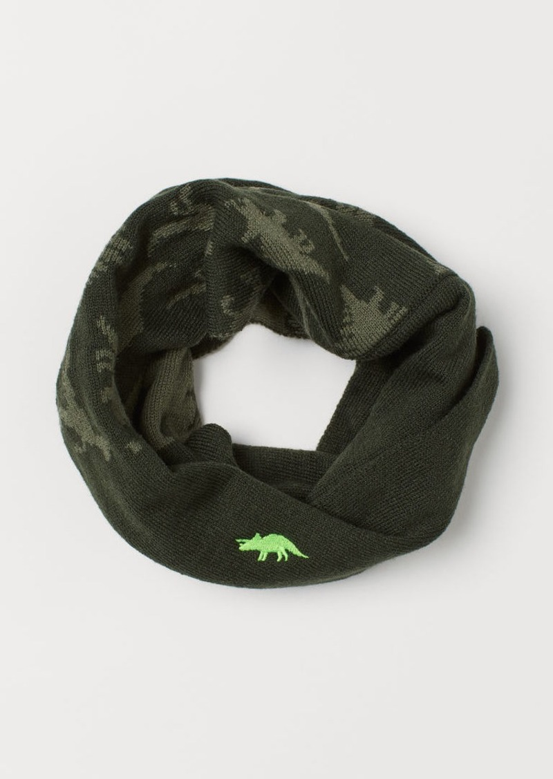 H&M H & M - Knit Tube Scarf - Green