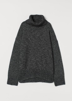 H&M H & M - Knit Turtleneck Sweater - Black