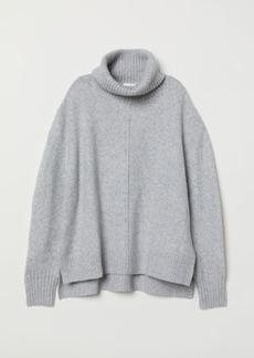 H&M H & M - Knit Turtleneck Sweater - Gray