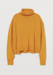 H&M H & M - Knit Turtleneck Sweater - Yellow