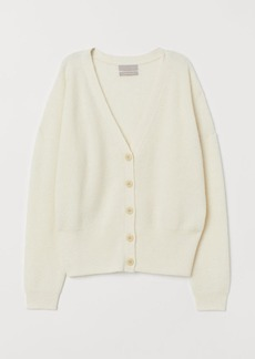 H&M H & M - Knit Wool-blend Cardigan - White
