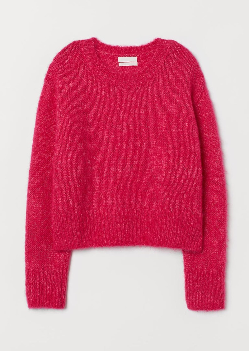 H&M H & M - Knit Wool-blend Sweater - Pink
