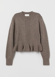 H&M H & M - Knit Wool Sweater - Beige