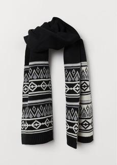H&M H & M - Knit Scarf - Black