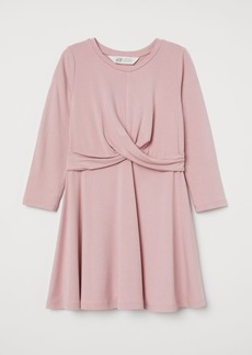 H&M H & M - Knot-detail Jersey Dress - Pink