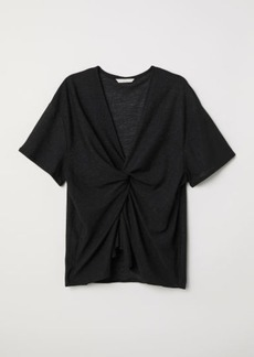 H&M H & M - Knot-detail Top - Black