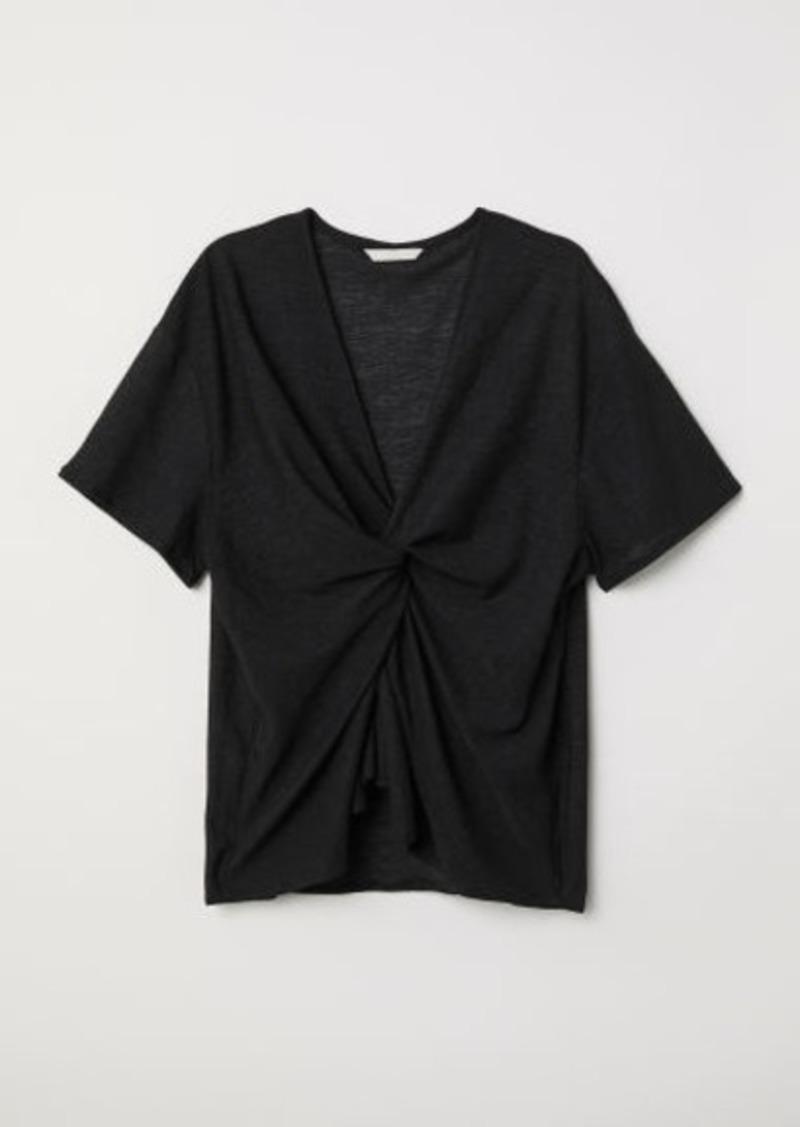 H&M H & M - Knot-detail Top - Black