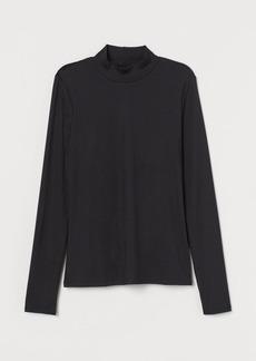 H&M H & M - Lace-back Top - Black