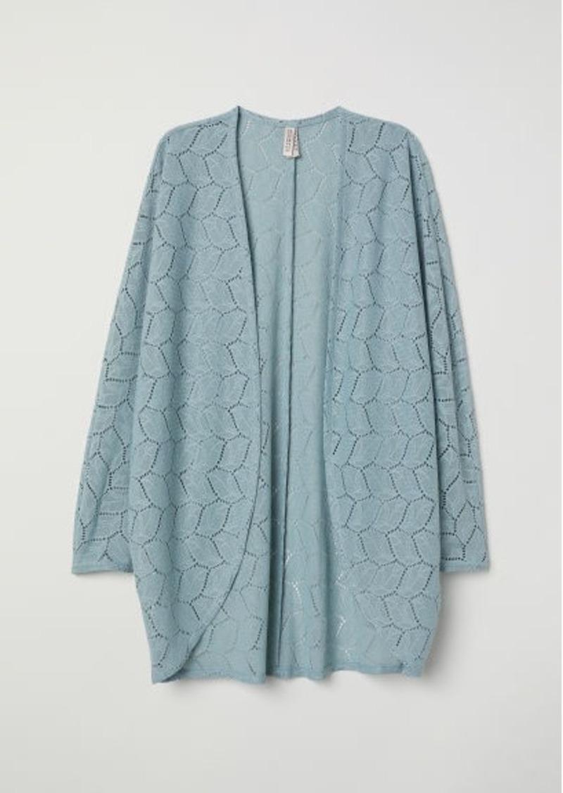 H&M H & M - Lace Cardigan - Turquoise
