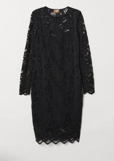 H&M H & M - Lace Dress - Black