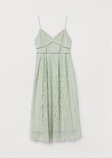 H&M H & M - Lace Dress - Green