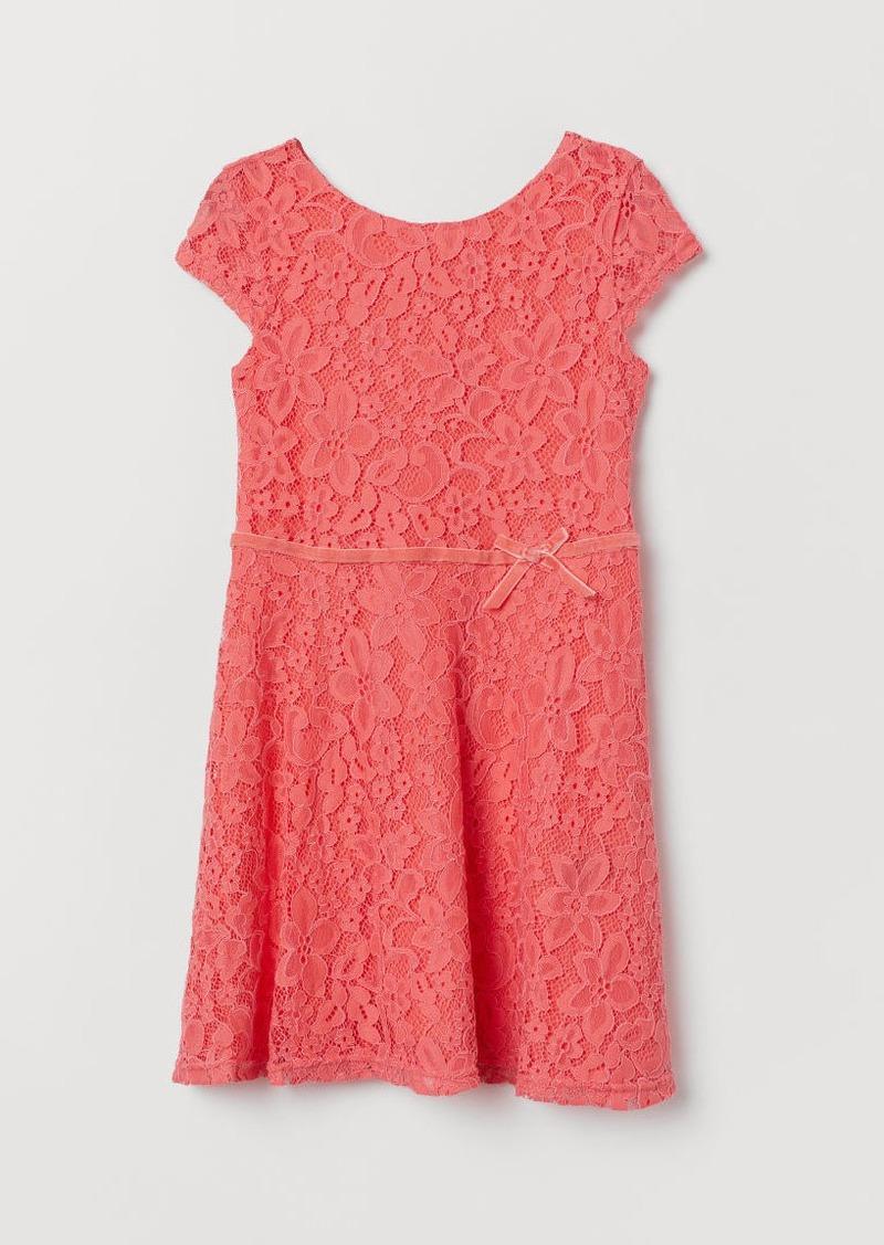 H&M H & M - Lace Dress - Pink