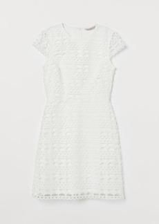 H&M H & M - Lace Dress - White