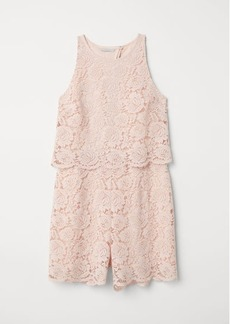 H&M H & M - Lace Jumpsuit - Pink