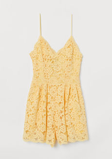H&M H & M - Lace Jumpsuit - Yellow