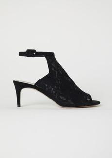 H&M H & M - Lace Sandals - Black
