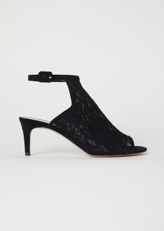 H&M H & M - Lace Sandals - Black